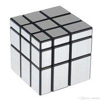cubo de espelho 3x3x3 venda por atacado-3x3x3 57mm Wire Drawing Estilo Fundido Revestido Cubo Mágico Presentes Desafio Espelho Espelho Cubos Educacional Toy Brinquedos Especiais