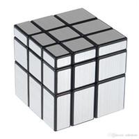 ingrosso 3x3x3 cubo specchio-3x3x3 57mm Wire Drawing Style Cast Coated Magic Cube Sfida Regali Puzzle Mirror Cubes Giocattoli educativi Giocattoli speciali