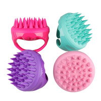Wholesale combing hair shower for sale - Comfortable Silicone Scalp Massage Brush Mini Creative Shampoo Hair Washing Comb Health Body Bath Shower Slimming Massage TTA449