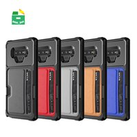 Wholesale pocket for phone car for sale - Group buy Shockproof Phone Case With Card Holder Magnetic Case Cover for Car for Samsug Galaxy S9 Plus Note