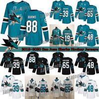 Wholesale sharks hockey for sale - Group buy San Jose Sharks Brent Burns Erik Karlsson Thornton Evander Kane Hertl Green White Hockey Jerseys