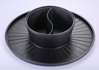 ingrosso pentole in ghisa-46cm commerciale hotel casa ghisa grill + zuppa pentola di montone hotpot barbecue Bbq friggitrice padella a due sapori hot pot 051-3