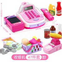 Wholesale kids pretend play toys resale online - Simulated Supermarket Checkout Counter Role play Shopping Cashier Cash Register Set Kids Pretend Play Educational Toys For Girl