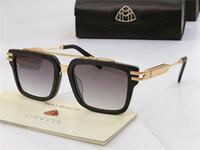 üst düzey güneş gözlüğü toptan satış-En lüks erkek gözlük ACE marka Maybach tasarımcı güneş gözlüğü kare K altın çerçeve high-end en kaliteli açık uv400 gözlük