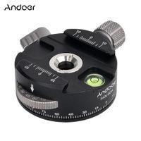 trípodes panorámicos al por mayor-Andoer trípode cabezal de bola panorámica PAN-60H de alta calidad con rotador de indexación AS tipo abrazadera para cámaras
