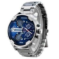 синие мужские часы оптовых-2019 Победитель Blue Ocean Fashion Повседневная Дизайнер Из Нержавеющей Стали Мужчины Скелет Часы Мужские Часы Лучший Бренд Автоматические Часы