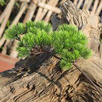 ingrosso piante di pino-1 pezzo 42 cm pino ramo plastica artificiale piante verdi rami di pino falso per home office deor pianta decorativa
