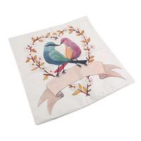 карта подушки покрытие оптовых-Europe Retro Hot Tree Bird Figure Hug Pillowcase Cushion Cover To Map Custom Creative Home Gifts Pillow Case