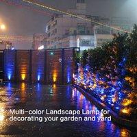 çok spot toptan satış-Uzaktan Kumanda ile Bahçe Çeşmesi Fish Tank RGB LED aydınlatma Freeshipping 12V Dalgıç Göleti Işık Çoklu Renk Akvaryum Spotlight