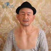 Wholesale silicone masquerade face masks for sale - Group buy EYUNG Old William good quality realistic silicone masks old man masquerade for April Fool s Day full head Tricky props