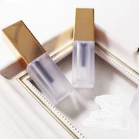 Wholesale bright lipstick for sale - Group buy 2019 Explosion models ml Square bright gold cover lip glaze tube Homemade DIY lipstick tube