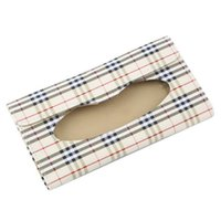 ingrosso scatola di carta scatola-Car Sun Visor Box Tissue Box Accessori auto Portatovaglioli in carta Portatovaglioli Custodia in pelle porta asciugamani