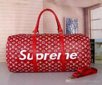 grandes bolsas vermelhas plaid venda por atacado-saco de duffle novo vermelho do saco do curso das mulheres dos homens da forma, saco do esporte da capacidade grande do desenhador da bagagem do desenhador da marca