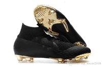 cr7 botas de fútbol negro oro al por mayor-Tacos de fútbol Ronaldo originales de oro negro Mercurial Superfly VI 360 Elite Neymar FG CR7 zapatos de fútbol al aire libre botas de fútbol por mayor