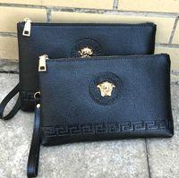 moda büyük cüzdanlar toptan satış-Medusa Sıcak satış, moda bayan el çantaları, kadın s rahat çanta, çanta, Erkekler s wallett, Büyük marka moda çanta, Debriyaj çanta cüzdan