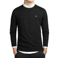 erkekler için örme ceketler toptan satış-Mens hoodies ceket kaban Yeni Moda Erkekler Kış Nakış Kazak O-Boyun Uzun Kollu Örme Sweatercoat Ithal-giyim Artı Boyutu 3XL