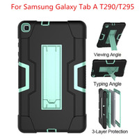 Wholesale tablet pc for kids for sale - Group buy For Samsung Galaxy Tab A T290 T295 Tablet Case Shockproof Kids Safe PC Silicone Hybrid Stand Full Body Cover