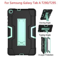 sekme çocukları kapsar toptan satış-Samsung Galaxy Tab A 8.0 2019 T290 / T295 Tablet Kılıfı Darbeye Çocuklar Güvenli PC Silikon Hibrid Tüm Vücut Kapak Standı