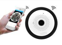 Wholesale day night video camera resale online - WIFI IP Camera Fisheye P Panoramic Baby Monitor Wireless Mini Degree CCTV Camera D VR Video Cam Surveillance