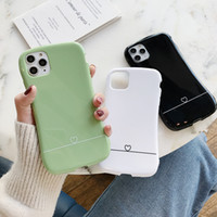 Wholesale couples phone for sale – best Colorful Waistline Phone Case For iPhone Pro Max X XR XS Max s Plus Candy Solid Color Soft Simple Couple Back Cover Factory Direct