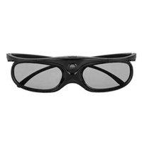 ingrosso dlp occhiali di collegamento dell'otturatore-Visual Active Shutter pieghevole Occhiali 3D ultra trasparenti con batteria USB Ricaricabile Chip LCD universale per DLP Link Projector