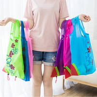 Wholesale nylon reusable folding shopping bags for sale - Group buy Creative Strawberry Shopping Bags Reusable Folding Women Large Capacity Nylon Bag Fashion Fold Portable Storage Handbag EEA741