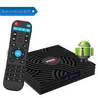 4k ultra hd tv großhandel-1 STÜCKE M9S W6 Android 7.1 TV-KASTEN 2GB 16GB Amlogic S905W Quad Core Ultra HD H.265 4K Stream Media Player Besser S905X2 H96 MAX X96 MAX