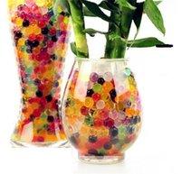 ingrosso palle di gelatina per il suolo-Palla perline d'acqua Fiore Pianta Cristallo Perle bellissime Suolo di cristallo Gel Jelly Party Matrimonio magico Jelly Water beads -y