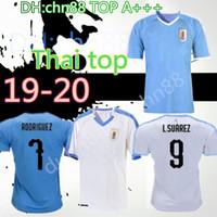 camiseta de casa de uruguay al por mayor-2019 2020 Uruguay INICIO Camisetas de fútbol C.STUANI 19 20 D.GODIN Uruguay L.SUAREZ Camiseta de fútbol E.CAVANI Camiseta de fútbol personalizada
