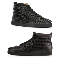 Wholesale mens leather shoes comfortable for sale - Group buy Mens Designer Brand Women Red Bottom Shoe Fashion Spikes Studded Spikes Flats Sneakers Comfortable Party Lovers Genuine Leather Casual Shoes