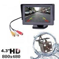 kablosuz dikiz otoparkı monitörü toptan satış-4.3 Inç TFT LCD Araba Monitör Ekran Kablosuz Kameralar Araba Dikiz Monitörleri için Ters Kamera Park Sistemi