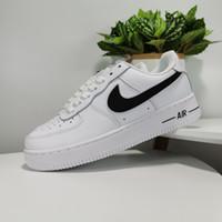 ingrosso scarpe nere per gli uomini-Le migliori sneaker da uomo di moda airlis firmate af1 scarpe tutte bianche nere forze 1 uno basso in vendita a buon mercato