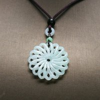 Wholesale jadeite carving for sale - Group buy Burma Jadeite Pendant Drop Shipping Hand Carved Lucky Amulet Transport Jade Necklace With Chain Jade Jewelry Gift