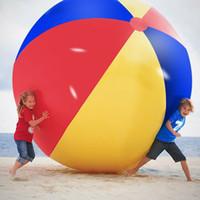 şişirilebilir balonlar toptan satış-200 cm / 80 inç Şişme Plaj Havuzu Oyuncaklar Su Topu Yaz Spor Oynamak Oyuncak Balon Açık Havada Suda Oynamak Plaj Topu MMA1892