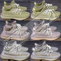 zapatos rosa salmón al por mayor-3M Estático Negro Reflectante Kanye West Antlia Synth Lundmark Gid Glow Forma verdadera Arcilla Crema Zapatillas blancas de correr Zapatillas de deporte de diseñador 5-13