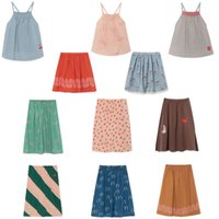 Wholesale baby clothes for party resale online - Kids Clothes Set Summer StRafina Girls Sling Top Shirt Skirt Baby Cotton Princess Party Skirt for Girl Children ClothesMX190916
