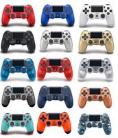 joystick de jogos sem fio venda por atacado-14 cores controlador sem fio para ps4 sony playstation 4 sistema de jogos controladores de jogos joystick com logotipo caixa de varejo