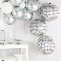 decoraciones de globos al por mayor-Disco bar decoración del partido 22 pulgadas 4D globos redondos degradados decoración de la boda globo grande globo de Pascua Helio Globos Baloon