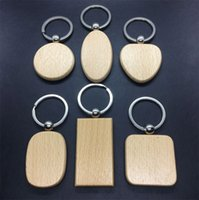 Wholesale blank wooden keychains for sale - Group buy Free DHL mm mm Simple Style DIY Wooden Keychains New Arrival Blank Wood Round Shaped Keychain Fashion Car Pendant Decoration G199F Y