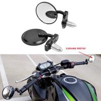Black 7 8 22mm Universal Round CNC Motorcycle Rearview Bar End Mirrors For Honda Kawasaki Suzuki Yamaha