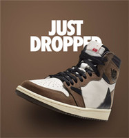 Wholesale New Release Travis Scott X S High OG TS SP MENS Low Basketball Shoes Sail Dark Mocha University Outdoor Sneakers CD4487 US7
