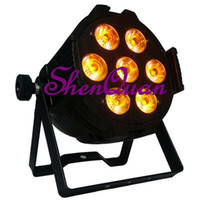 levou par china venda por atacado-Estilo europeu 7pcs alto brilho 4 em 1 LED par luz para venda, venda de iluminação de palco da china