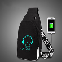Wholesale china hot boys resale online - Backpack multifunction USB charging for teenagers boys Student Girls School Bags travel Luminous Bag Laptop Pack hot