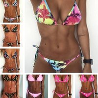 maillot bain bañador brasileño al por mayor-Bikinis 2019 Playa Sexy Tallas grandes Traje de baño Traje de baño Traje de baño Brasileño Bikini Set maillot de bain Biquini Buena calidad