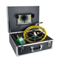 inspeções de câmeras de tubos venda por atacado-20 M 30 M 50 M IP68 Sistema de Câmera À Prova D 'Água de Esgoto Da Tubulação de Drenagem 9