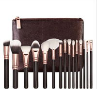Wholesale bags for hair for sale - Group buy Brand high quality Makeup Brush Set Brush With PU Bag Professional Brush For Powder Foundation Blush Eyeshadow