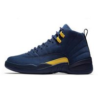 Wholesale sneakers nyc resale online - Newest s Basketball shoe For Man CNY Michigan Wntr Gym Red NYC Wool Bulls XII Designer Shoe Sports Mens Trainers Sneakers