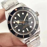 reloj de pulsera para hombre suizo al por mayor-Vintage 39 mm Relojes para hombre Reloj de hombre para hombre Eta 2824 Negro Dial Bay M79030 Fifty Retro Swiss Eight ZF 1958 Relojes de fábrica