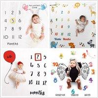 alfombras de niñas al por mayor-Manta del bebé recién nacido Antecedentes Manta fotografía apoya infantil manta muchacha del bebé Milestone Foto Atrezzo Fotografía
