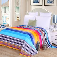 Wholesale woven blankets for sale - Group buy 3 sizes Coral Fleece blanket on the bed home adult Beautiful color blanket warm winter sofa travel portable